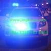 丰田新款霸道警车安装VS V72警报器及GL332A中网灯VS SIGNAL S201螺旋管爆闪灯工字型超薄长排警灯