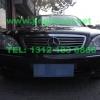 奔驰S500安装GL332A中网爆闪灯警灯配V72 600W警报器