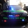 宝马BMW5安装多套美国VS SIGNAL爆闪灯及联邦信VIPER S2吸盘灯VS SIGNAL V7-1 300W警报器