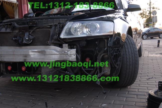 奥迪A6L安装美国VS SIGNAL V82警报器及12只中网爆闪警灯GL332A GL316A-京OA