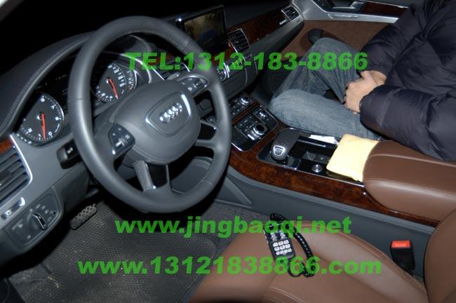 奥迪A8L安装美国VS SIGNAL V82plus增强版警报器及GL332A中网爆闪灯警灯实拍