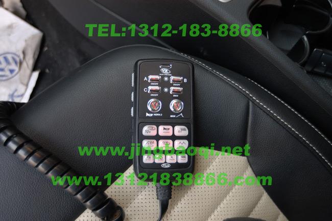 大众迈腾安装美国VS SIGNAL V0-1重低音警报配V72PLUS增强版警报器及12只中网爆闪灯警灯实拍