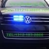 大众途锐安装美国VS SIGNAL V8-1 (V81)灯控显示警报器及GL332A中网1带8爆闪灯警灯实拍照片集