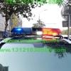奔驰S350警车安装的美国道奇VISTA长排警灯加装美国VS SIGNAL GL332A GL316A中网LED爆闪警灯实拍照片集