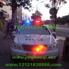 奔驰S350警车安装美国道奇VISTA长排警灯VS Signal V7-2警报器及GL332A中网LED爆闪警灯实拍照片集