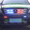 奔驰ML500安装美国VS Signal V82 (V8-2)警报器及GL332A/GL316A中网爆闪灯警灯实拍图集