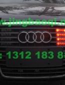 奥迪 A6L安装美国VS SIGNAL V7-1警报器及VS SIGNAL GL332A中网LED爆闪灯警灯