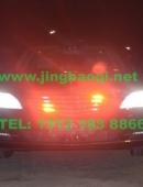 奔驰S500安装美国VS SIGNAL V7-1警报器及GL332A中网灯1带8LED爆闪灯警灯