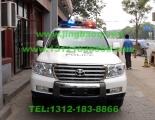 丰田兰德库路泽警车安装美国联邦信号道奇VISTA LED长排警灯及VS SIGNAL V71警报器