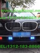 BMW760LI安装美国VS V71警报器及GL332A中网LED爆闪灯1带8