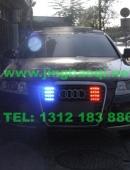 奥迪 A6L安装美国VS SIGNAL V7-2警报器及VS SIGNAL GL322A GL109TH中网LED爆闪灯警灯