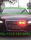 奥迪A4L安装最新变色爆闪灯VS-GL332AMC1带8警灯及V71警报器-美国VS SIGNAL