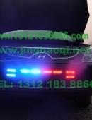 现代维拉克斯安装美国VS SIGNALV7系列V72 (V7-2)警报器GL332A中网爆闪灯警灯图集