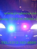 奔驰S安装美国VS SIGNAL V7-1警报器及GL332A中网LED爆闪灯警灯