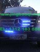 奔驰GL越野车安装VS V72警报器及12个VS GL332中网爆闪灯警灯