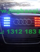 奥迪A6L安装美国VS V7-2警报器及VS SIGNAL GL332A中网LED爆闪灯警灯