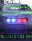 宝马BMW5系加装8只中网警灯,美国VS Signal GL332A爆闪灯